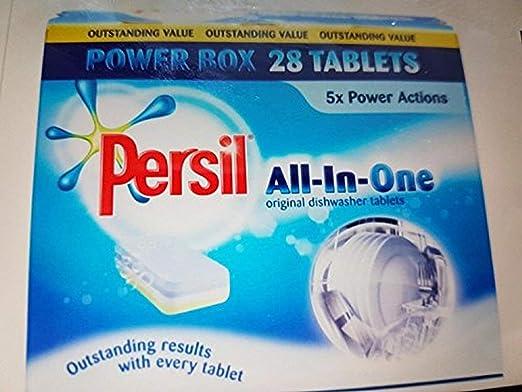 Persil All-In-One - Pastillas para lavavajillas (5 Unidades, 28 ...