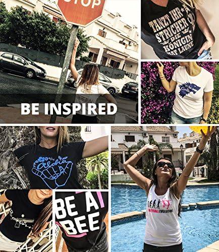 Comedy koszulki – gwiazda – damski t-shirt – okrągły dekolt, 100% bawełna, krÓtki rękaw koszulka Basic Print-Shirt: Odzież