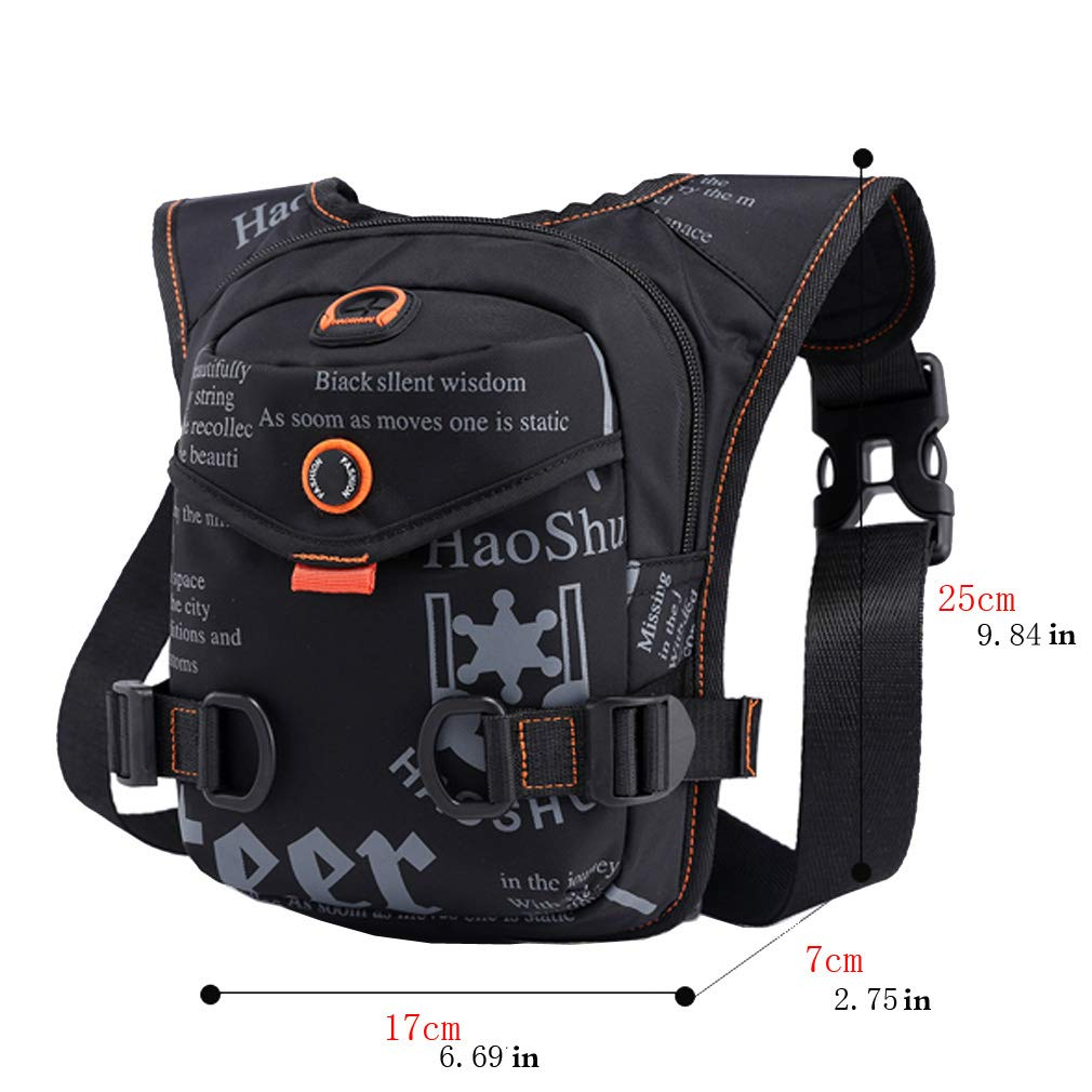 Daypacks & Casual Bags Camping & Hiking TR.OD Bag Leg Drop Motorcycle Waist Pack Men Thigh Canvas Belt Outdoor Bike Bag HITTIME