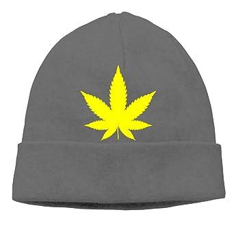 38f62f338 Yellow Hemp Leaf Beanie Hat Classic Toboggan Hat Winter Hats Knit ...