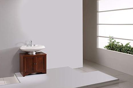 Mobile da bagno armadietto sotto lavabo copri colonna con ante e