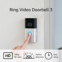 Ring Video All New Doorbell 3 Improved Motion Detection With 1080p HD Video