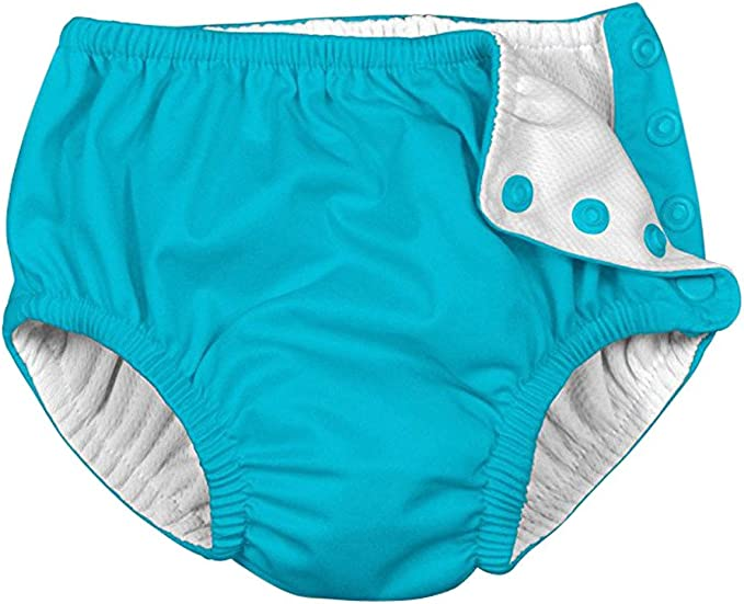 Baby/&Toddler Girls Swimsuit Diaper Solid Snap Reusable Absorbent Swimming Nappies for Baby Swimming Lessons
