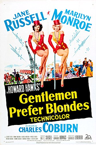 "Posters USA - Marilyn Monroe Gentlemen Prefer Blondes GLOSSY FINISH Movie Poster - FIL474 (24"" x 36"" (61cm x 91.5cm))"