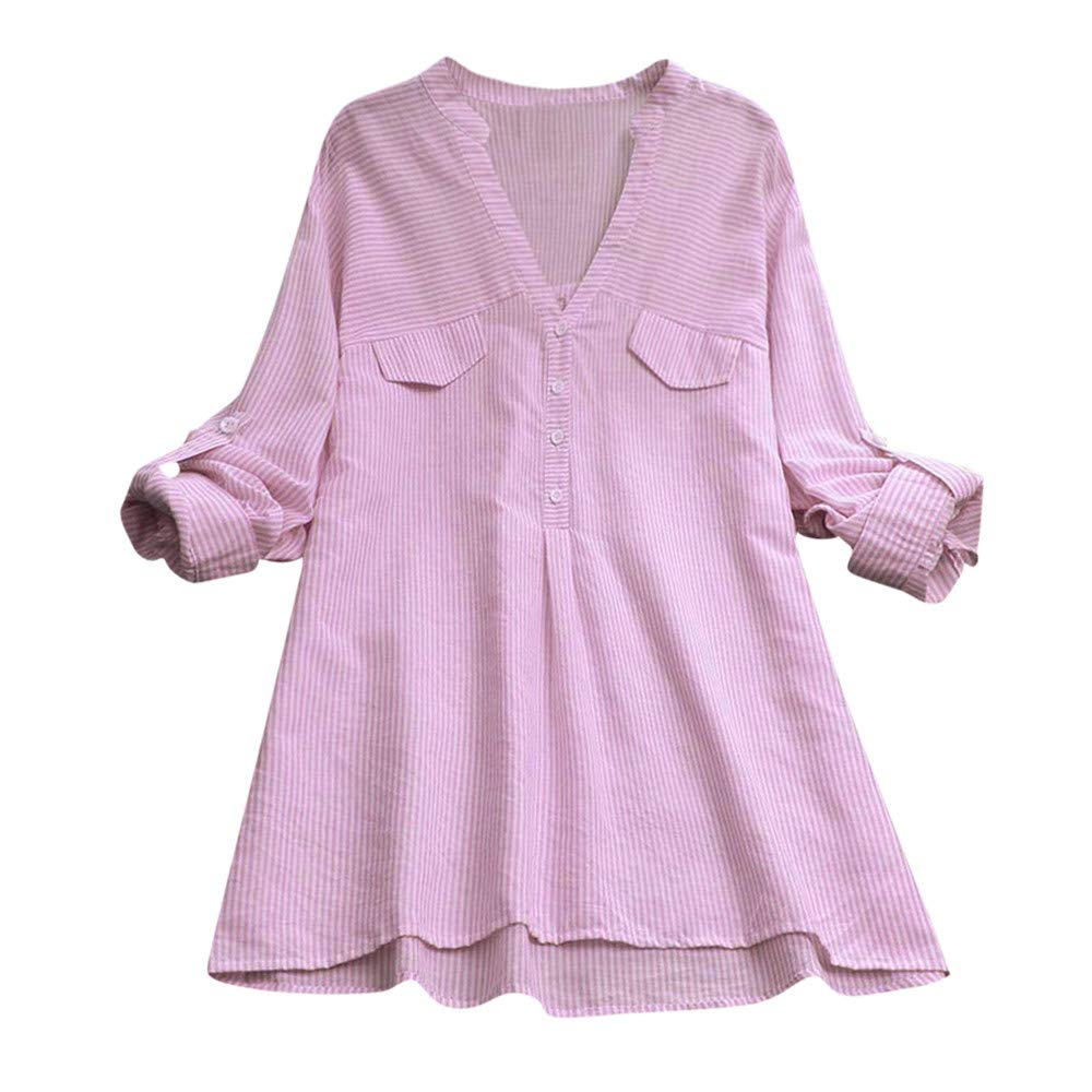 Women Blouses, Ladies Long Sleeve Solid Plain Swing Button Down Shirt Dress Tunic Shirts Casual Loose Pullover Top Fashion T-Shirt Office Blouse Work(Polyester) S-3XL