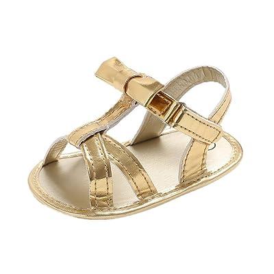 Auxma Chaussures Bébé Fille Chaussures Bébé, Bébé Bowknot Sandales Toddler Princesse Premiers Marcheurs Filles enfant Chaussures pour 0-6 6-12 12-18 Mois