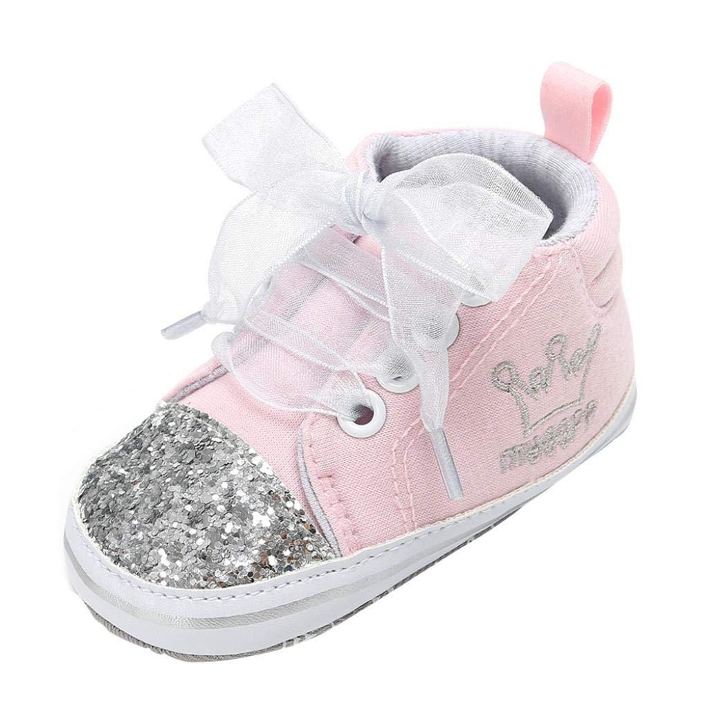 Zapatos de bebé, ASHOP Niña Niño Casuales Zapatillas del Otoño Invierno Suela Vendaje Lentejuelas Primeros Caminantes Deporte Antideslizante del Zapatos Individuales 0-18 Meses ASHOP_1990
