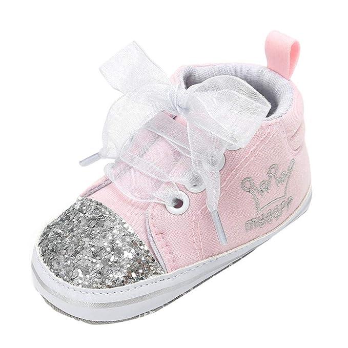 Zapatos de bebé, ASHOP Niña Niño Casuales Zapatillas del Otoño Invierno Suela Vendaje Lentejuelas Primeros Caminantes Deporte Antideslizante del Zapatos ...