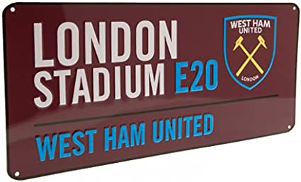 Amazon.com: West Ham United F.C – Metal placa de calle (cl ...