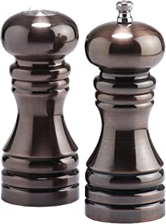 product image for Chef Specialties 5 Inch Burnished Copper Pepper Mill and Salt Shaker Set
