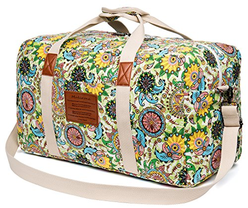 Travel Duffle (Malirona Canvas Weekender Bag Travel Duffel Bag for Weekend Overnight Trip)
