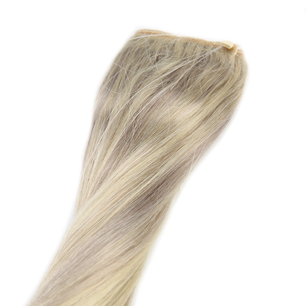 Full Shine 18 inch Fish Line fish line Hair Extension Ombre Color ...