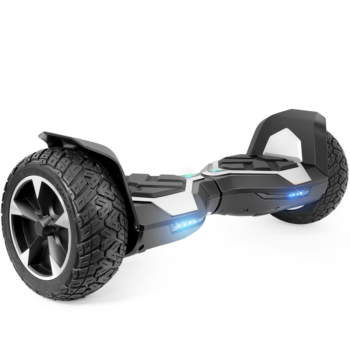 XtremepowerUS 8.5 Inch Off-road All Terrain Self-balancing Hoverboard, w/ Bluetooth Speaker (SILVER)