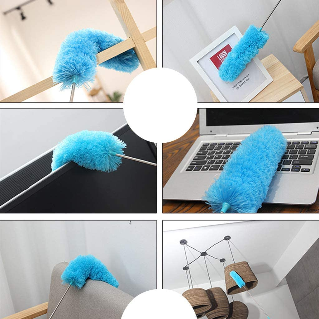 Grey Sixcup  Cleaning Brush Extendable Brush Soft Duster Brush Anti Dusting Brush Home Cleaning Window Duster