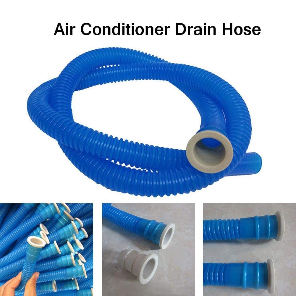 EVA /& PE Universal Air Conditioner Drain Hose,durable Washing Machine Inlet Pipe AC Hose Drain Pipe Flare,Diameter 16MM-4.92 Ft