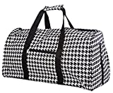 21 in Print Duffle, Overnight, Carry on Bag with Outside Pocket and Shoulder Strap (Black Houndstooth) Review