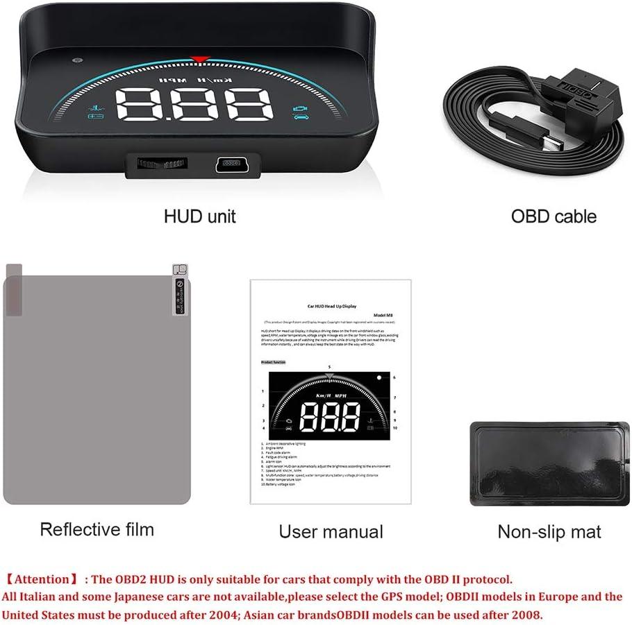 HUD Display Head-Up Display OBD2 GPS Auto Geschwindigkeit Projektor Digital System Geschwindigkeitshinweise Reise Computer Diagnose Windschutzscheibe Display