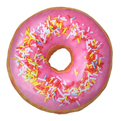 Amazon.com: Colorido Creativo 3d felpa Donut Doughnut Throw ...