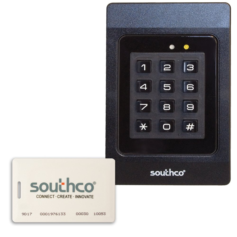 Southco EA-P1 Series Proximity Reader with 2 Cards, 12V, Black