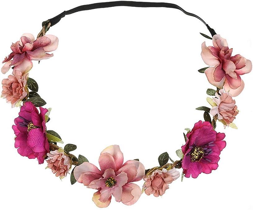 Yazilind Hippie Amour Fleur Guirlande Couronne Festival Cheveux De Mariage Guirlande Boho Floral Bandeau