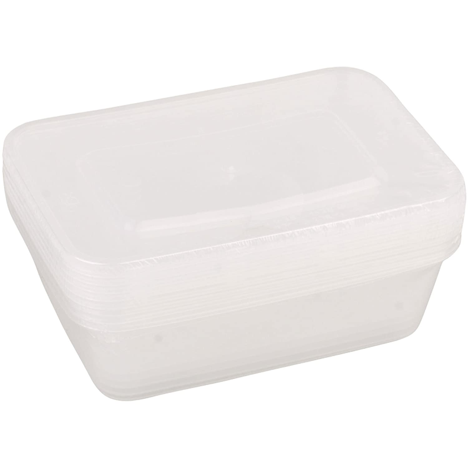 5 x Plastic 650ml Takeaway Microwave Freezer Safe Food Storage Container Tub Britwear