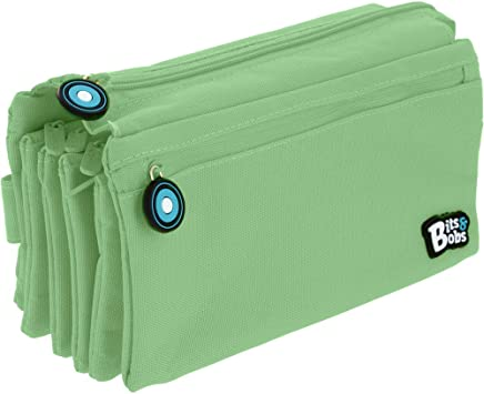 Grafoplás 37543326. Estuche Cuádruple, Verde Mint, 23x12cm, Bits & Bobs: Amazon.es: Oficina y papelería