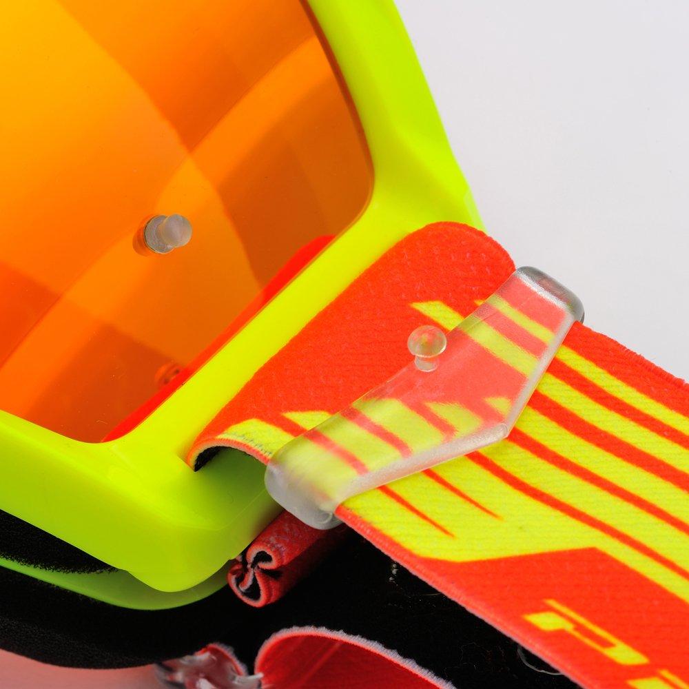 Multistrato 3248 Rosso Progrip Occhiale 3201FL Giallo Fluo con Lente Antigraffio
