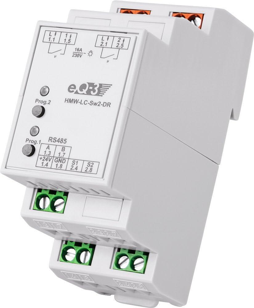 Homematic Wired Rs485 Schaltaktor 2 Fach Hutschienenmontage Baumarkt