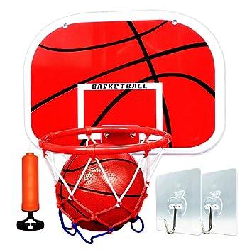 ZAQI Mini aro de Baloncesto para niños sobre la Puerta, Juego de ...