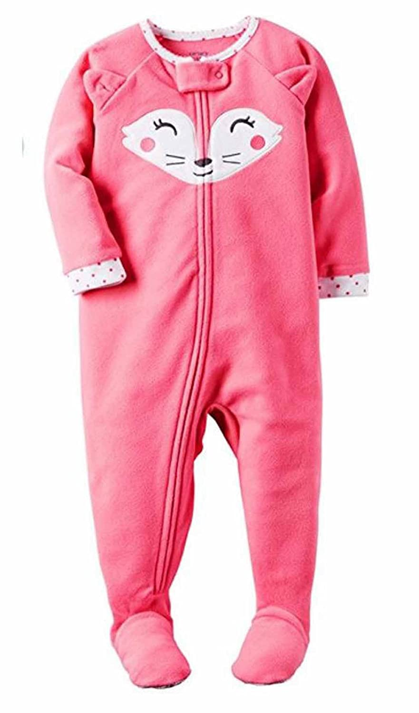b6d407164 Carters Girls 1 Piece Footed Sleeper Blanket Zip Up Soft Fleece ...