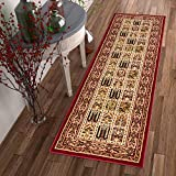 Sultan Panel Multi Color Red Oriental Area Rug Persian Formal Traditional Area Rug 3′ x 12′ Runner Easy Clean Stain Fade Resistant Shed Free Classic Contemporary Thick Soft Plush Living Dining Room Review