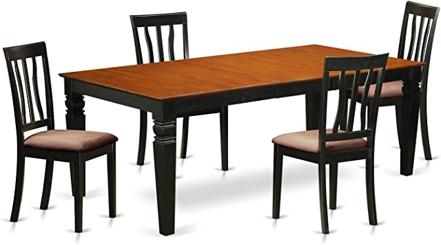 Amazon.com: LGAN5-BCH-C 5 Pc Kitchen Table set with a Dining ...