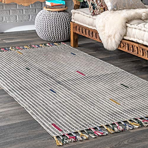 nuLOOM MACH04A Lister Ivy Striped Area Rug, 5' x 8', Multi ()