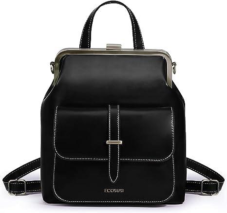 Women Girl Stylish PU Leather Backpack Shoulder Bag School Work Travel Gift Chic