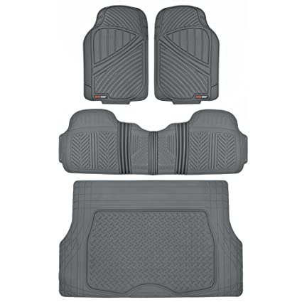 Amazon Com Motor Trend Flextough Rubber Car Floor Mats Cargo