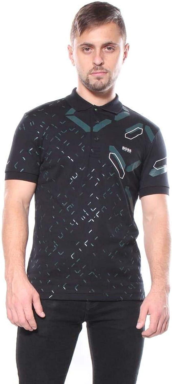 Hugo Boss Paule 3 Polo Men's Black Print Short Sleeve T-Shirt XXL