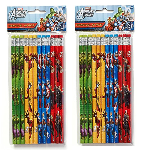 12-Piece Avengers Pencils, Multicolored (2 Pack)