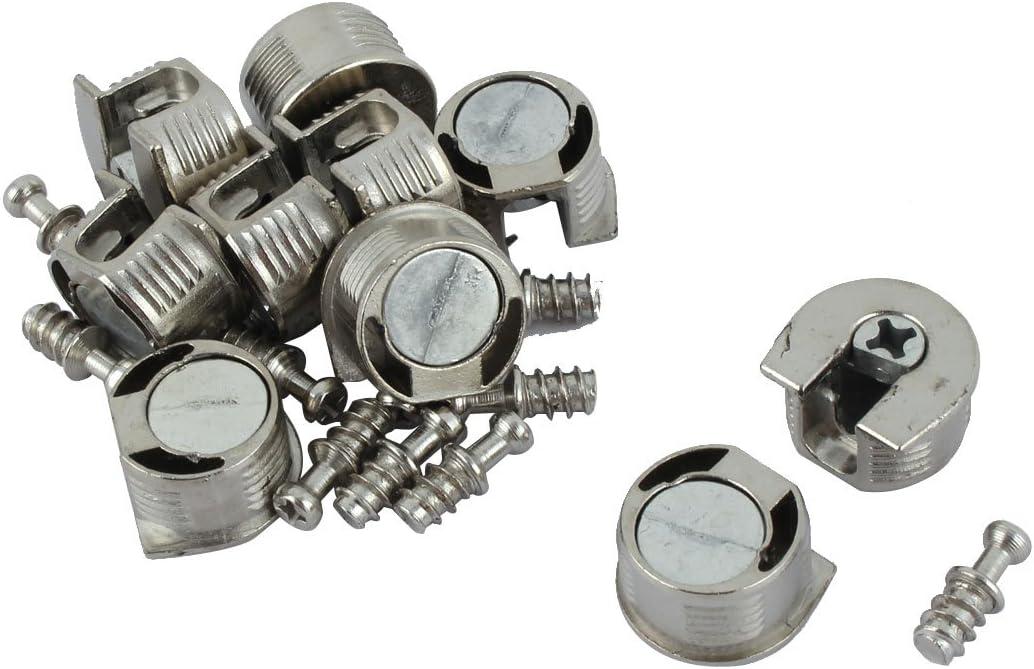 uxcell 20mm Thread Cam Lock Alloy Shelf Support Holder Bracket Stud Pin 10pcs