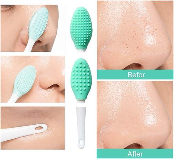 Minkissy Cepillo Nasal Manual de Silicona de 4 Piezas Cepillo Nasal de Nariz Limpiador de Espinillas Cepillo de Limpieza Nasal Suave Depurador de Acn/é de Nariz de Mano