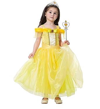 48cd3836abbec SKWELL ドレス プリンセス風 女の子 ベル爱洛姫 パーティードレス チュールスカート 子供用 ワンピース