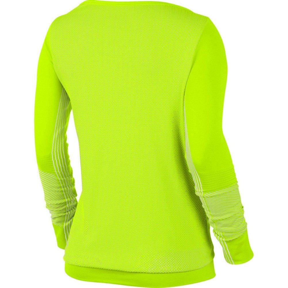 Nike Mujer Epic Dri fit Knit Manga Larga Crew Camiseta