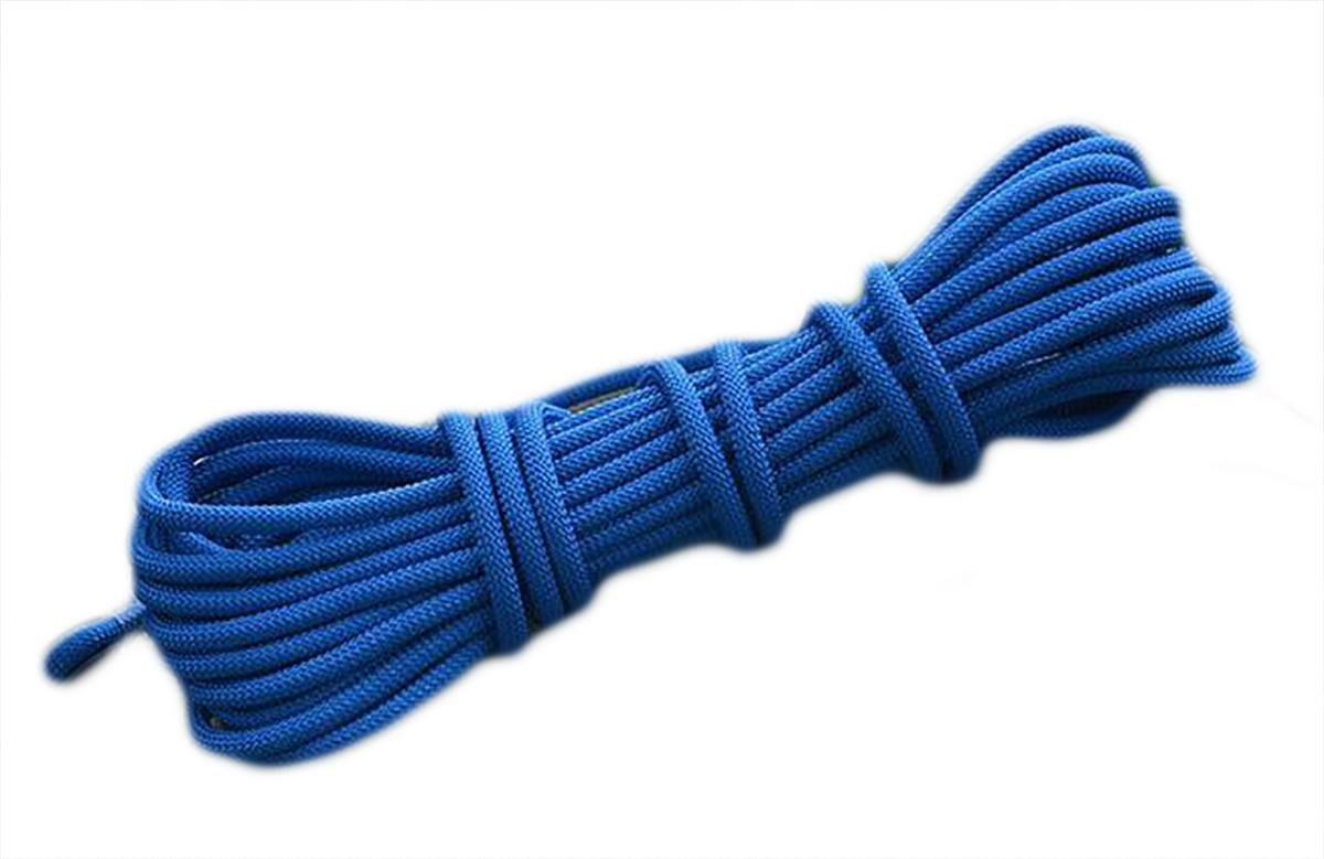 Bleu 8mm Rope Climbing extérieur Rope Climbing Porter évasion sécurité 50m