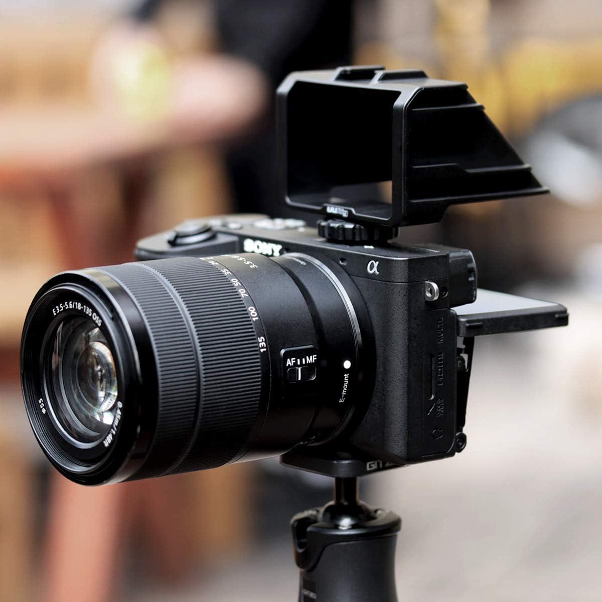 UURig R031 Kamera Flip Screen Spiegel mit Kaltschuh-Mikrofon Verl/ängerung Halterung f/ür Sony A6000 A6300 A6500 A7III Serie