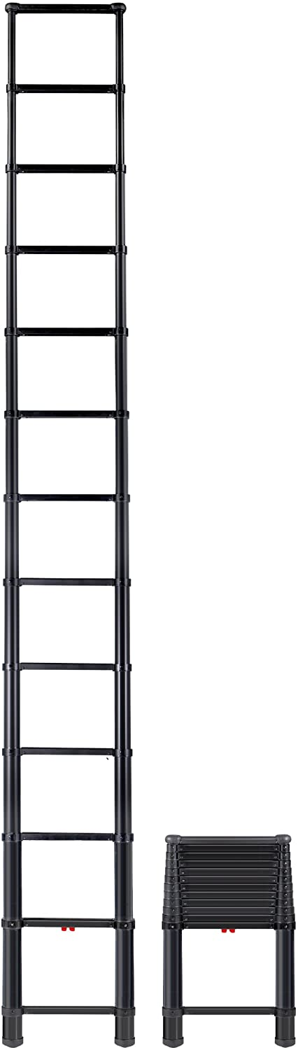 Telesteps 1600ET OSHA Compliant 16 ft Reach Black Tactical Telescoping Extension Ladder - Telescoping Ladders -