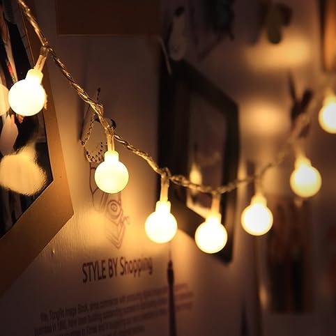 LED bianco caldo ip44 LED Catena di luci per interno o esterno con piccole sfere
