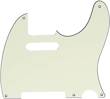 3Ply Parchment Musiclily 5 Hole Vintage Guitar Tele Pickguard for USA//Mexican Made Fender Standard Telecaster Style Electric Guitar
