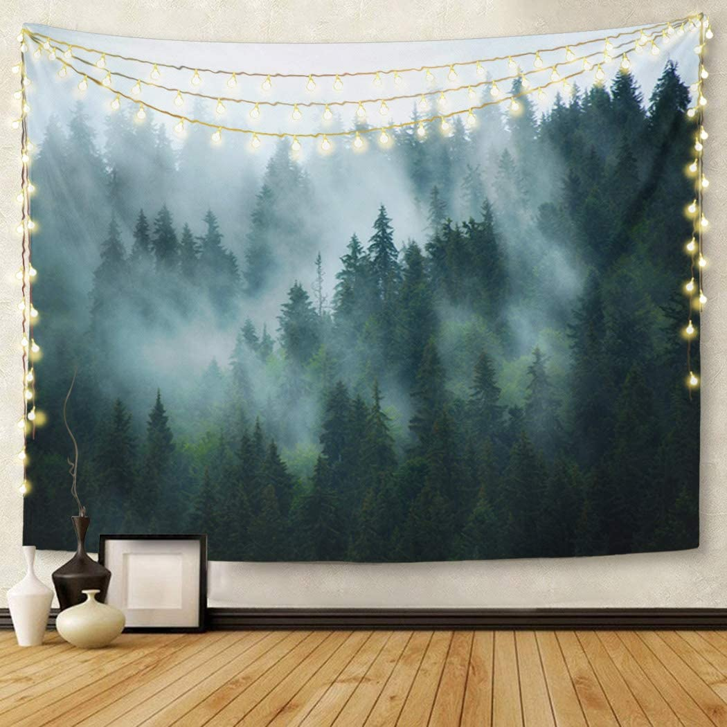 Britimes Tapestry Wall Hanging Mountains Landscape with Fir Forest in Hipster Vintage Retro Style Tapestry for Bedroom Living Room Dorm Decor Home Decoration Art