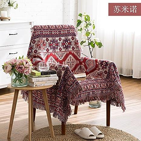 DADAO-Sofá tela toalla, arte, manta de algodón, manta, tapa guardapolvo