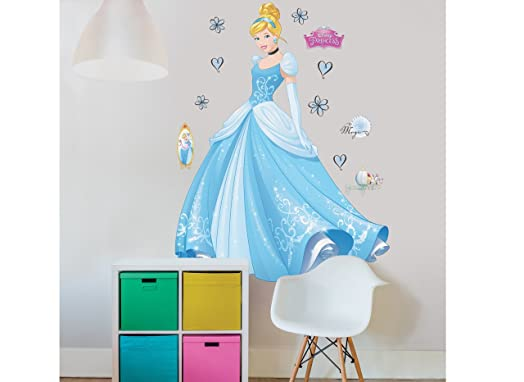 Walltastic Disney Princess Cinderella Large Character Wall Sticker Set,  Multi Colour Part 67