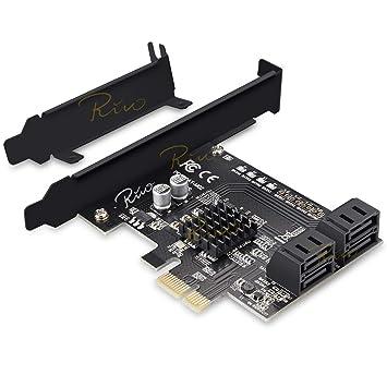 Rivo - Tarjeta SATA de 4 Puertos SATA III PCIe x1 con ...